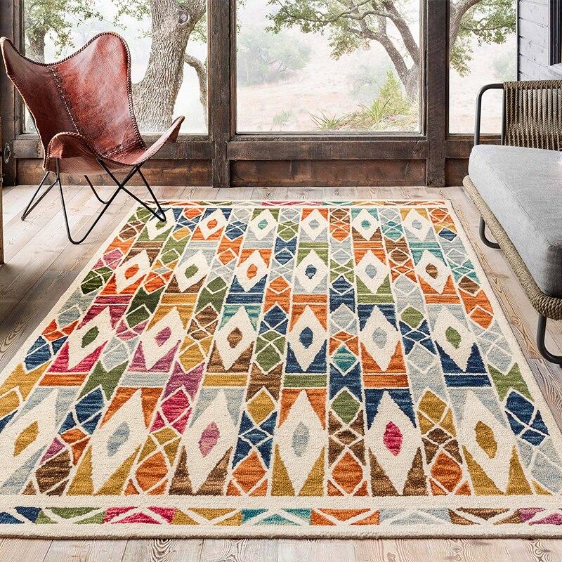Индийский ковер килим шерсть новый список ручной сшитой рукодельной - 2