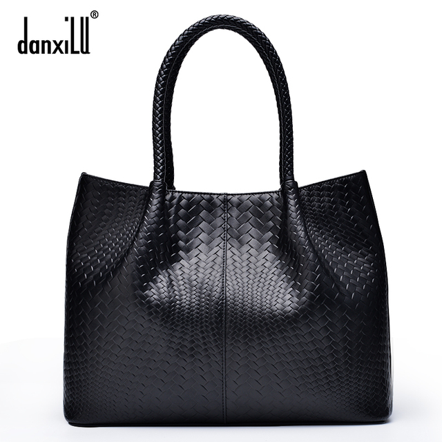 Danxilu Famous brand Genuine Leather Handbags Ladies Casual Shoulder Bags tote Women shoulder bag bolsa feminina