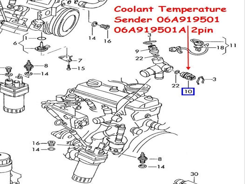 Vw Echtem Oem Khlmitteltemperatursensor 06a 919 501 A Passt Fr 2006 Pat Engine Diagram Eos 2010 2007 Eurovan Golf Stadt 2009 Gti Jetta 2002 Lupo 2005 Passat