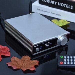 Image 5 - BRZHIFI HiFi סטריאו Bluetooth 5.0 TDA7498 כוח מגבר עם פעיל סאב אוזניות Amp USB/OPT/לשדל DAC מפענח