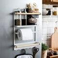 Кухонная стойка для холодильника с магнитной адсорбцией  органайзер  инструменты  держатель для бумажных полотенец  баночки для приправ  ст...