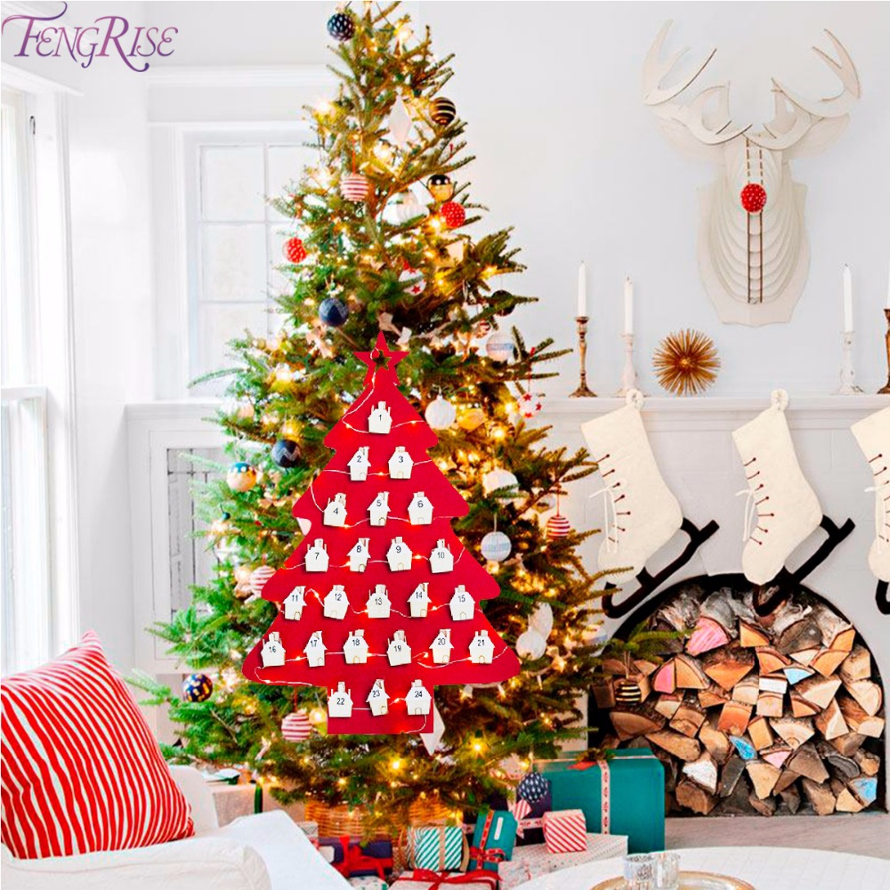 fengrise christmas advent calendar 2019 2018 christmas decoraitons for home felt calendar