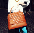 2015 Fashion Designer Handbags Plaid Women Shoulder Bag Messenger Casual Tote Black and Orange Diamond Brand Handbag