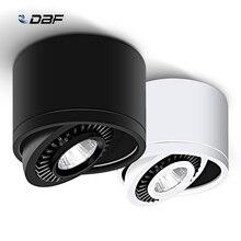 С регулируемой яркостью с поверхностным монтажом светодиодный потолочный COB светильник 5 Вт/7 Вт/9 Вт/15 Вт Светодиодный светильник AC85V-265V потолочный Точечный светильник с Светодиодный драйвер белый/теплый белый