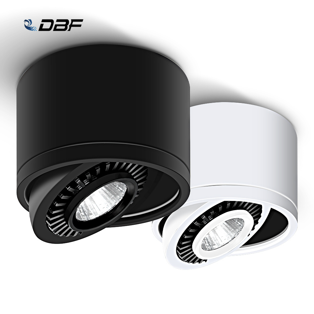 Dimmable Surface Mounted LED COB Downlight 5W/7W/9W/15W LED Lamp AC85V-265V Ceiling Spot Light with LED Driver White/Warm White