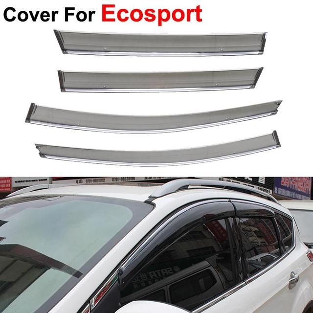 4pcs/lot Awnings Shelters Window Visors For Ford Ecosport 2014 2015 Stickers Car Styling Accessories Guard Rain Shield