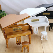 New Home Decoration Creative Gifts 3 colors piano Mini Music Box for Princess Love Girl Valentine's Day Christmas gift