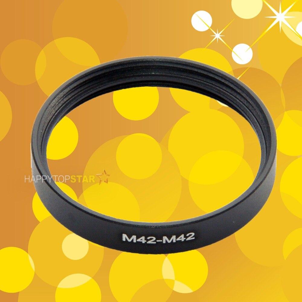 M42-M42 42mm a 42mm 42-42mm 1mm Paso de rosca hembra a hembra lente de foto filtro anillo Adaptador convertidor