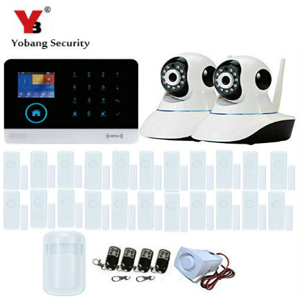 YobangSecurity Wireless PIR Sensor IP Camera WIFI GSM GPRS Autodial House Office Burglar Intruder Alarm System Android IOS APP yobangsecurity touch keypad wifi gsm gprs home security voice burglar alarm ip camera smoke detector door pir motion sensor