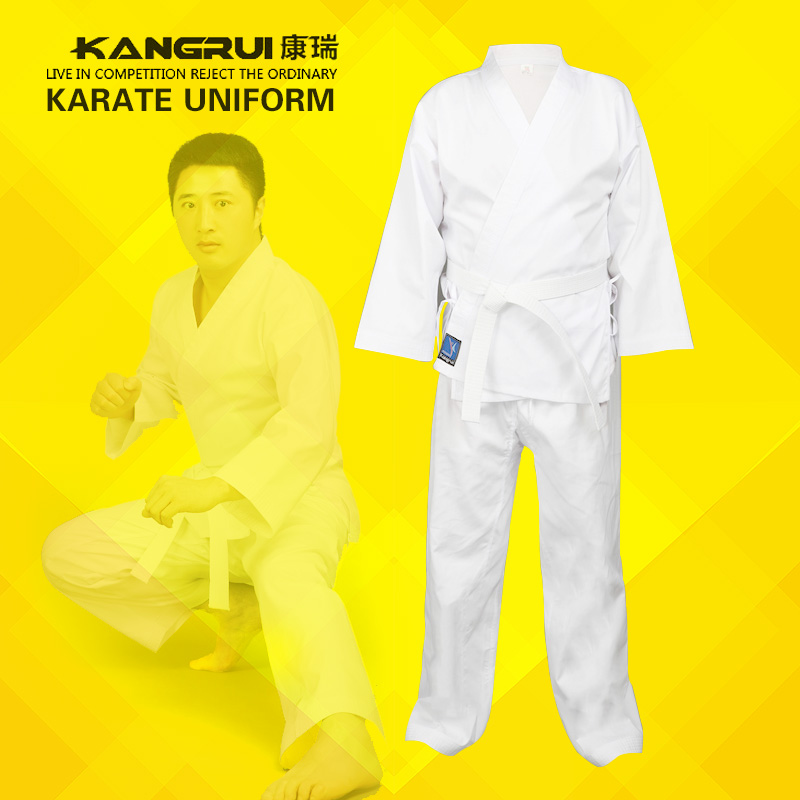 cheap good quality child adult karate uniform suit WTF Taekwondo kick boxing MMA Martial art training clothes dobok cotton