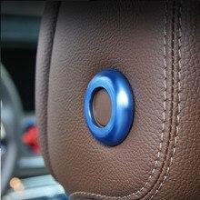 4 шт. автомобиля металлическая опора подголовник Лифт кнопка крышка наклейка для Mercedes Benz 2015-2016 C класс/класса GLC/мл GL GLE GLS тип автомобиля