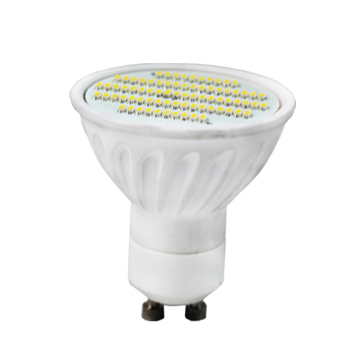 10PCS 6W Ceramic GU10 led spotlight 500LM SMD 3014 76PCS Warm white cool white AC100-240V Free shipping