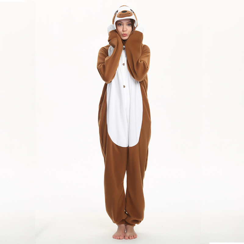 brown sloth adult onesie
