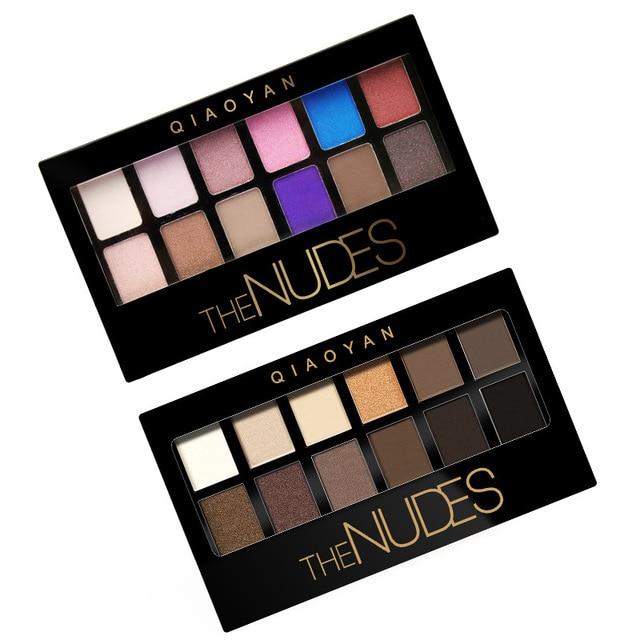 2019 nuevo profesional sombra de ojo cosmética mate ojo sombra 12 colores hacer conjunto desnudos Palete paleta de sombra de ojos de iluminar
