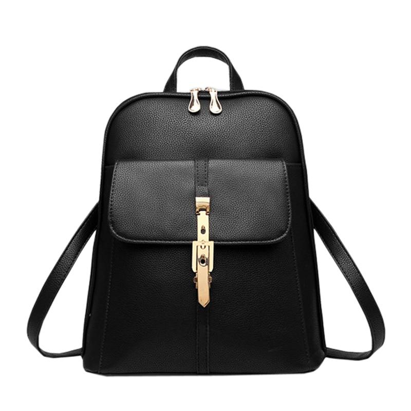 2016 leather backpacks women backpack school bags students backpack ladies women's travel bags  package