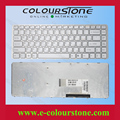 For Sony VGN-NW VGN NW series Keyboard white RU Russia laptop keyboard with frame 148737941  53010DJ07-203-G