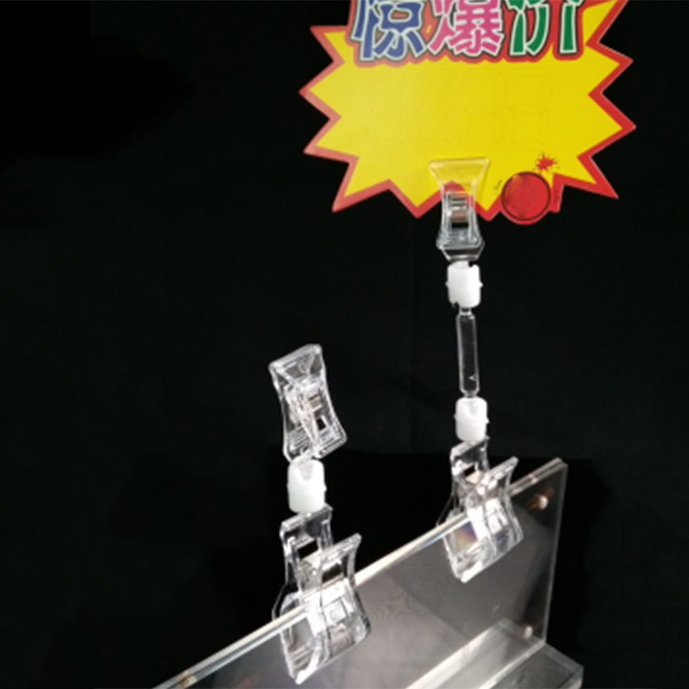 Display-Holders Price-Label Supermarket Retails Sign Tag Clear Plastic Clips Shelf-Clamp