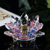 7 kolory Szkła Kryształowego Lotus Flower kolumny ślubne centerpieces świecznik Świeczniki Świecznik Holder Home Decor miska