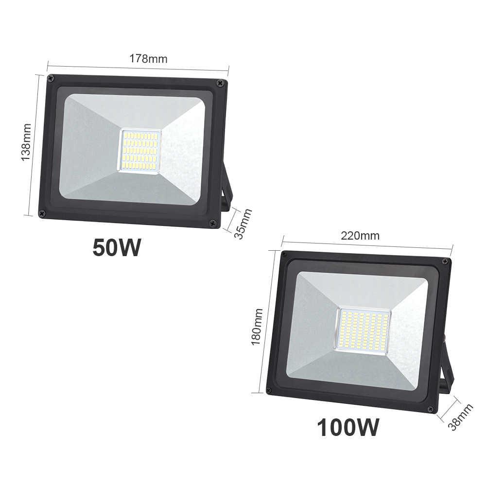 50 Вт 100 Вт прожектор 220 В светодиодный фонарь-Рефлектор светодиодный наружный светильник садовый светильник новейший 230 в 240 В