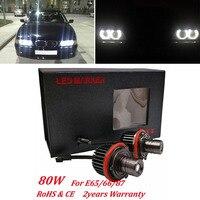 High Quality 1 Pair 20W LED Angel Eyes Marker Light Bulb Super Bright White Lamp 7000K
