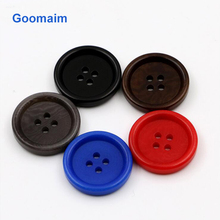 50pcs fashion natural color fruit buttons for jeans sewing button suit 4 holes candy children clothing