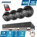 Annke hd 8ch 960 h cctv dvr 960 p 1.3mp cctv sistema de câmera de segurança 1 TB HDD 8 CH placa de Vídeo Vigilância Kit 8 Conjuntos de Câmera Dome AHD