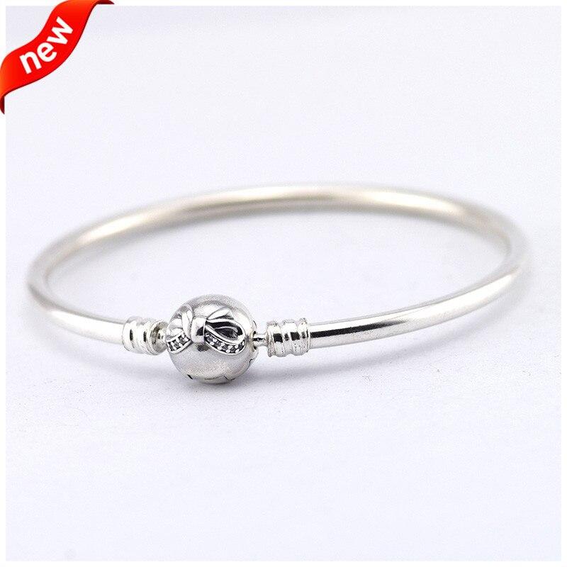 Véritable 925 en argent Sterling Moments délicat arc Bracelet Fit Original femmes perles charme de base Bracelet bijoux à bricoler soi-même en gros FLB018