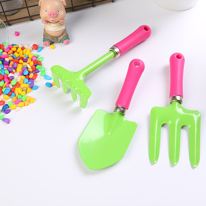 New Listing Garden Tools Plastic Potted Mini Flower Arrangement Loose Soil Three-Piece Planting Flowers And Gardening Tools