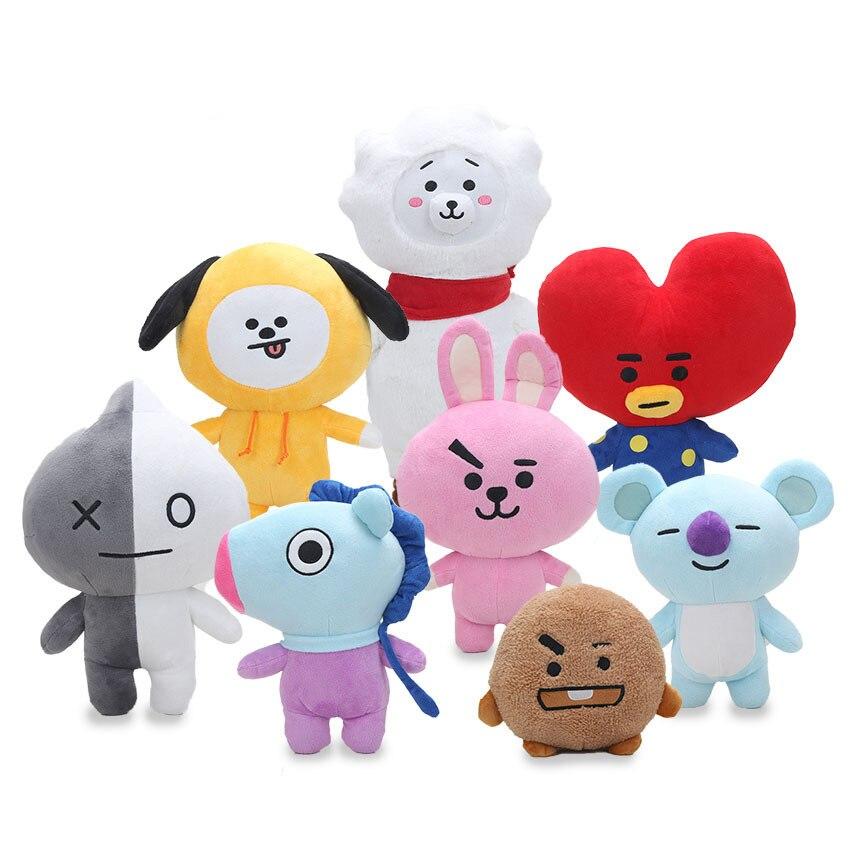 8 stil Kpop Hause Bangtan Boys BTS bt21 Vapp Plüsch Puppe TATA VAN COOKY CHIMMY SHOOKY KOYA RJ MANG