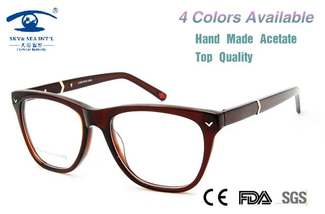 Gafas de Diseño de marca de Las Mujeres Grandes gafas de Marco Gafas Lentes de la Alta Calidad Mujeres Large Frame Marco Óptico oculos grau Retro