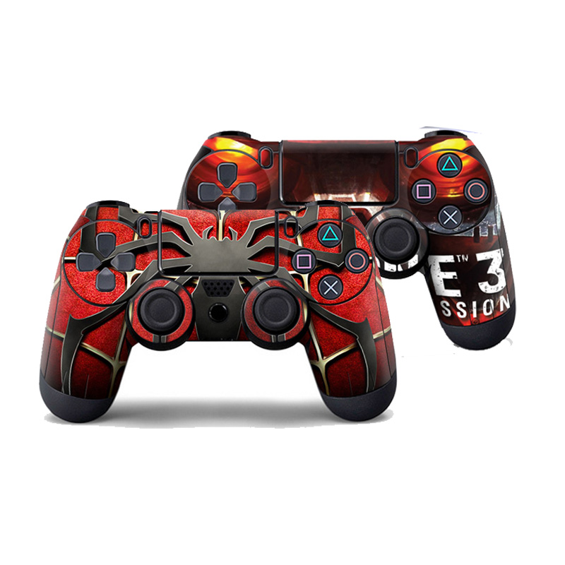 spiderman-pvc-custom-sticker-case-protector-for-sony-for-ps4-font-b-playstation-b-font-4-dualshock-controller