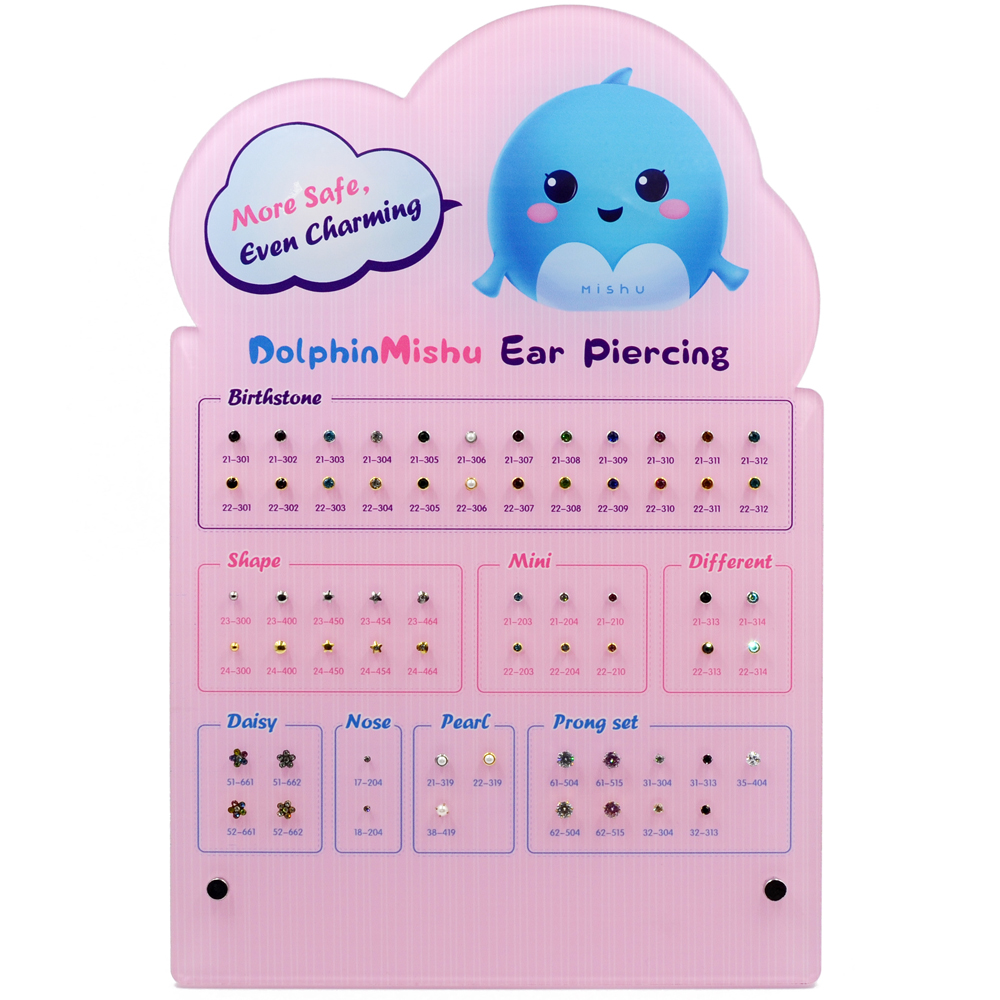 1Pc Acrylic Show Board Display Board Disposable Safe Sterile Piercing Unit Earrings Display Board High quality
