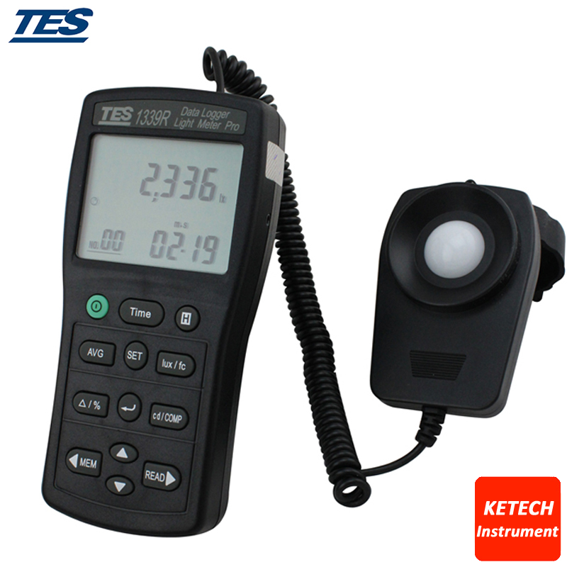 TES1339R Light Meter Tester 0.01 to 999900 Lux PC Data Record