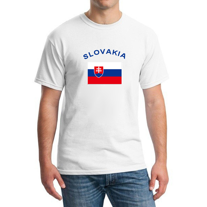 BLWHSA Nuovo SLOVACCHIA Tifosi Applaudono Uomo T-Shirt Estate Bandiera  Nazionale bianco Manica Corta 100 f9ecdbaed205