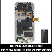 Para Samsung Galaxy SIV S4 Mini I9190 i9192 i9195 LCD Super AMOLED Pantalla LCD de Repuesto de Pantalla Táctil Digitalizador Con Marco