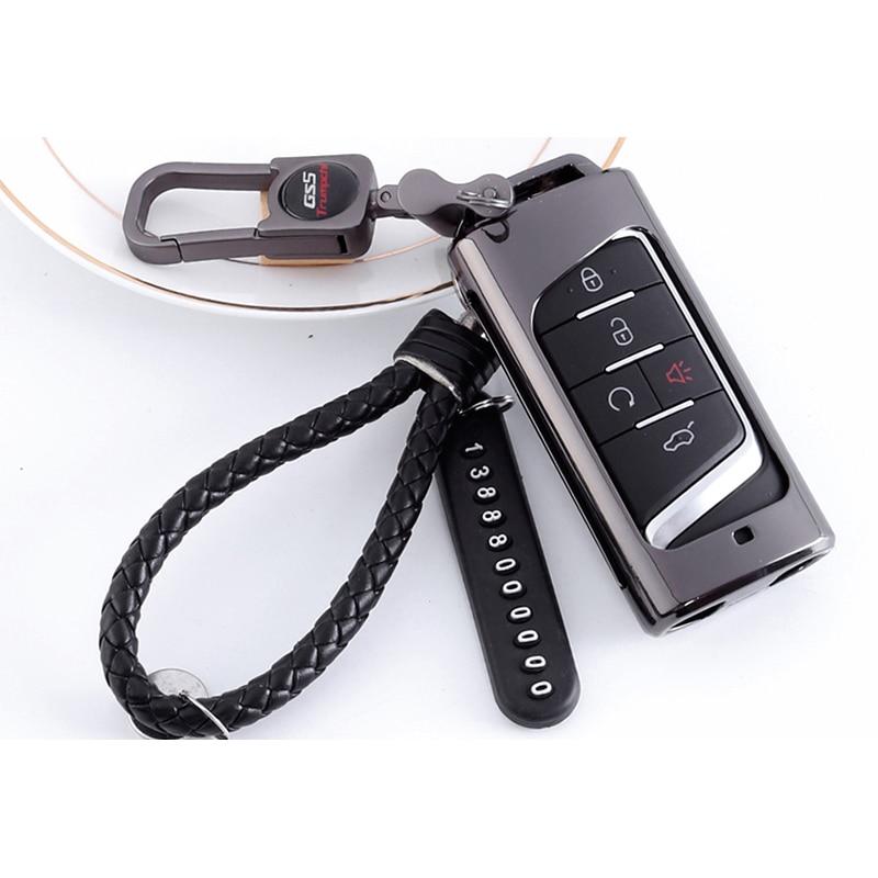 Lsrtw2017 Genuine Leather Zinc Alloy Car Key Case for Trumpchi Gs5 2012 2013 2014 2015 2016 2017 2018 2019 2020