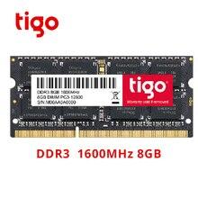 Tigo Тетрадь ноутбука DDR3 Оперативная память памяти 8 GB Memoria SoDIMM DDR 3 8 GB 1600 mhz 1333 mhz Высокое качество