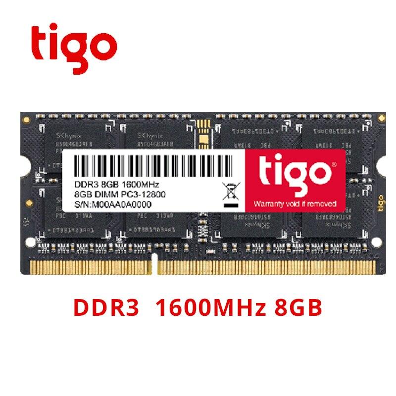 Tigo ordinateur portable DDR3 RAM mémoire 8 GB Memoria SoDIMM DDR 3 8 GB 1600 mhz 1333 mhz haute qualité