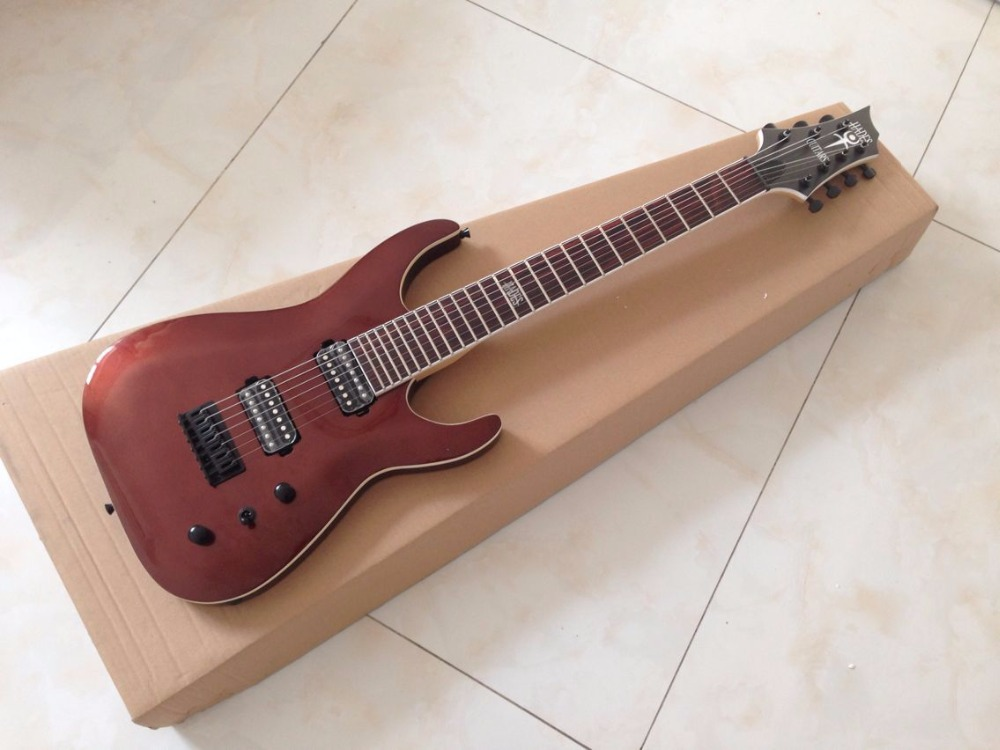 7 strings electric guitar with basswood body maple neck