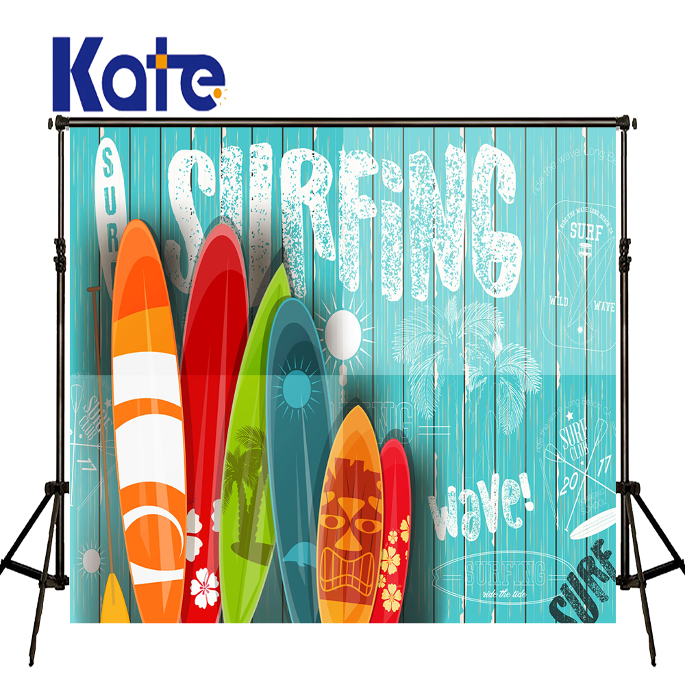 где купить KATE 5x7ft Blue Graffiti Planks Backdrop Colorful Surfboards Beach Background Children Summer Travel Backdrop for Photo Studio по лучшей цене