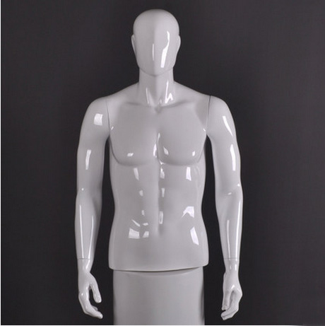 Best Quality Fashionable Style Fiberglass Male Half Body Mannequin Upper Body Model Factory Direct Sell mannequin