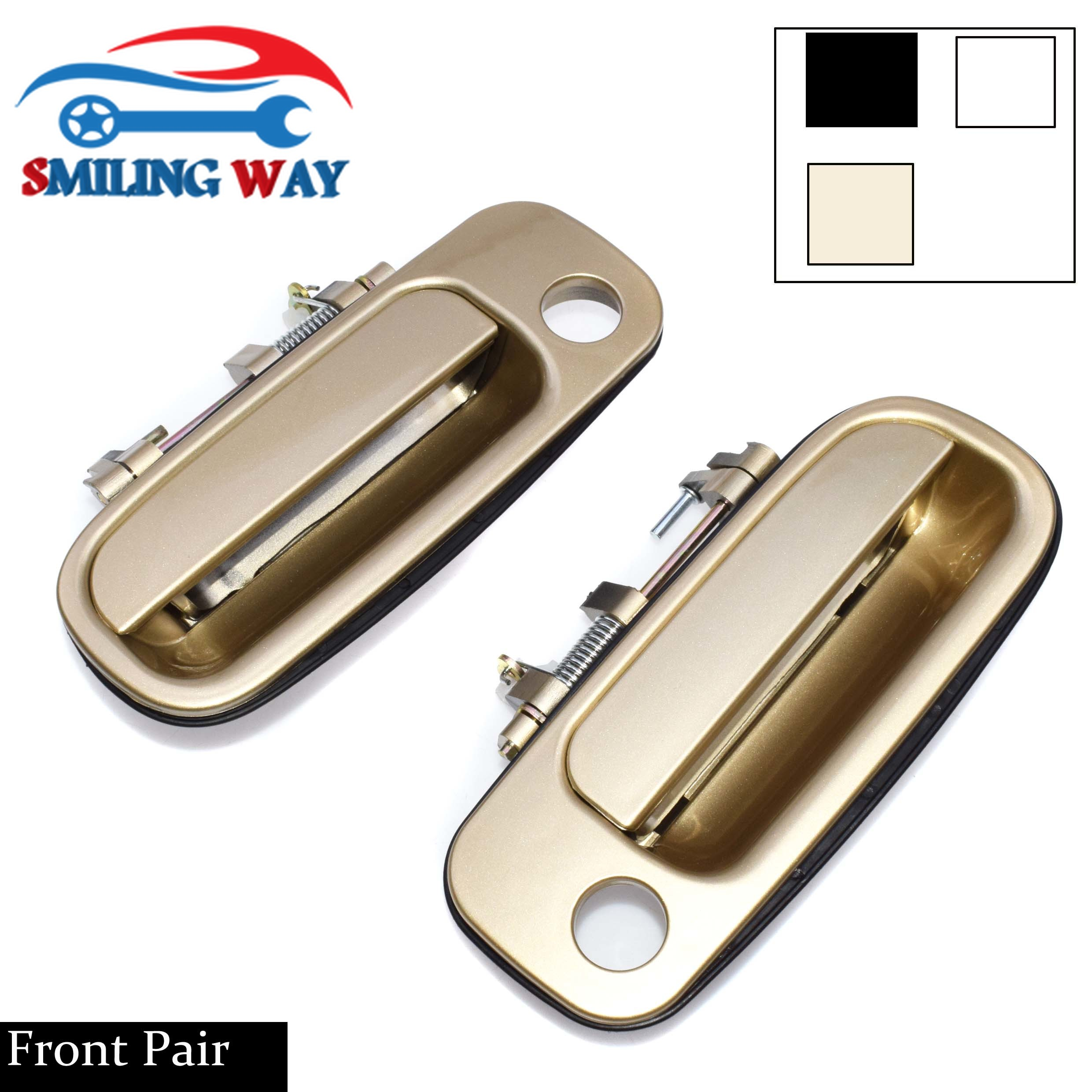For Corolla Rear Outside Outer Exterior Black Door Handle Left /& Right SET PAIR