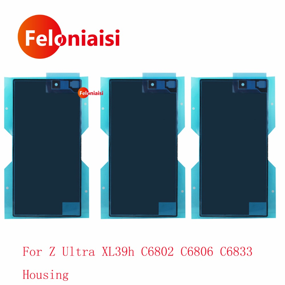 10Pcs/lot For Sony Xperia Z Ultra XL39h C6802 C6806 C6833 Housing Battery Cover Door Rear Cover Chassis Frame Back Cover