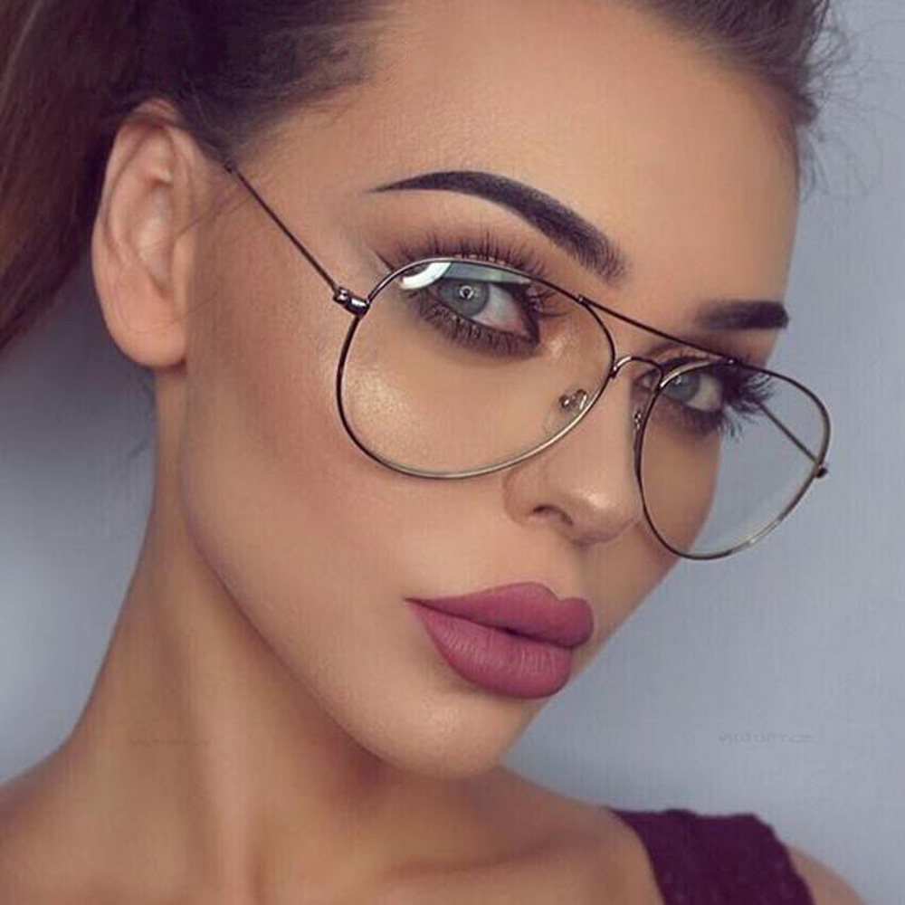 clear aviator glasses frame gold clear women sunglasses pink frame clear lens optical clear glasses lunette