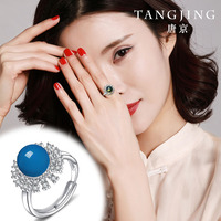 2020 Top Fashion Limited Women Plant Rings Anel Masculino Natural Mexican Potter Ring S925 With Movable Mouth With Certificate