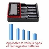 SVPRO 4/6 슬롯 범용 배터리 충전기 lifepo4 충전기 배터리 10440 14500 16340 18350 18650 충전기 AA 리튬 배터