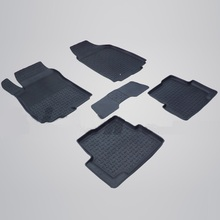 Для Ravon R4 2016-2019 резиновые коврики в салон автомобиля 5 шт./компл. Seintex 82910