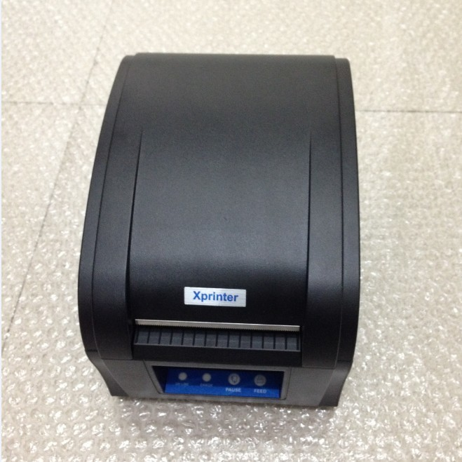 80mm Thermal barcode sticker label printer Xprinter 360B usb port self adhesive label printing machine