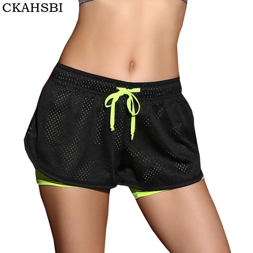 <+>  CKAHSBI Спортивные женские шорты для бега 2 в 1 беговые колготки Короткие спортивные упражнения Легг ✔