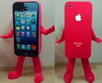 BING RUI CO горячая Распродажа Красный костюм талисмана сотового телефона Apple iPhone 5C взрослых Размеры EMS Бесплатная доставка